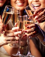 enjoy your hen weekend with champagne